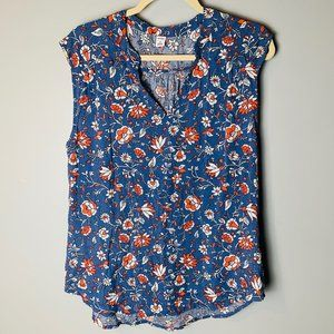 Old Navy NEW Sleeveless Top Size Medium Floral